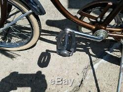 Vintage 1968 Schwinn Stingray Runabout Run-A-Bout Sierra brown 3 Speed Bicycle
