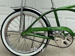 Vintage 1969 Campus Green Schwinn Deluxe Stingray. Rebuilt and ready to ride
