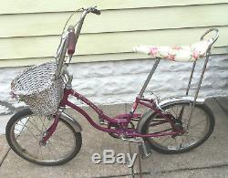 Vintage 1970 Schwinn Fair Lady Bicycle All Original Complete Stingray Fastback