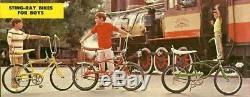 Vintage 1970 Schwinn Fastback Stingray with 3 speed Stik-Shift Campus Green