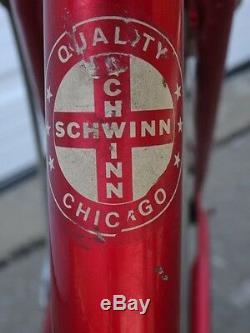 Vintage 1970s Old Schwinn Collegiate 5-Speed 17 Women Bicycle Road Cruiser Bike