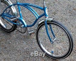 Vintage 1971 J39-6 Schwinn DELUXE Stingray SKY BLUE Banana Seat MUSCLE BIKE