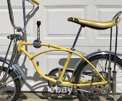 Vintage 1972 Schwinn Stingray Lemon Peeler Krate Bike Rear Disc Brake Model