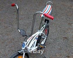 Vintage 1976 J38-6 Schwinn BICENTENNIAL Stingray WHITE Banana Seat MUSCLE BIKE