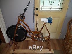 Vintage 1978 XR-6 Schwinn Exerciser Vintage Copper Look Stationary Bike