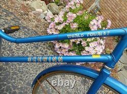 Vintage 1980's Women's Schwinn World Tourist Bicycle 17 Frame Blue