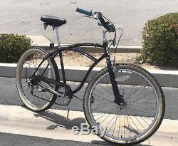Vintage 1980s Schwinn 26 5-Speed Beach Cruiser Bicycle VERY Clean 1 Owner BLACK