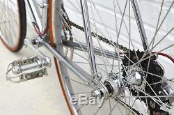 Vintage 1981 Schwinn Voyageur 11.8 25 63cm Chrome Road Bike Brooks Mint Cond