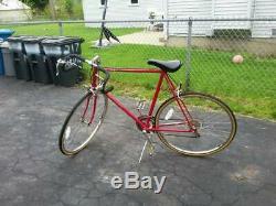 Vintage 1987 Schwinn Sprint Mens Road Bike 10 Speed Opaque Red 25 Nice