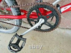 Vintage 1991 Schwinn Predator Phantom EX 20 BMX Bike Red Original