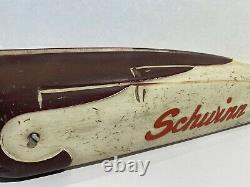 Vintage 50's Schwinn men's straight bar 26 Deluxe Hornet Bicycle Tank Maroon