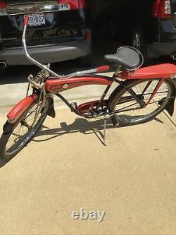 Vintage Antique Bicycle MONARK 1940's Cycle King With Schwinn Handlebars Grips