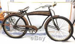 Vintage Cleveland Welding Tank Bike Mens 26 Skiptooth Cruiser 1940s Schwinn Rar