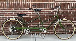 Vintage Green 5-Speed Schwinn Twinn Tandem Bicycle