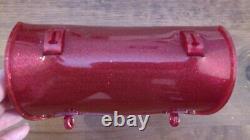 Vintage Hunt Wilde Red Glitter Banana Seat Muscle Bike Schwinn Krate Tool Bag