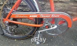 Vintage January 1968 Schwinn Stingray Orange Krate Bicycle