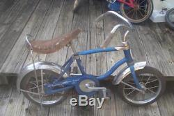 Vintage Late 1970's Schwinn Stingray Candy Sky Blue Lil Tiger 12 Inch