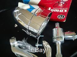 Vintage NOS Bicycle Light Dynamo Lighting Set KADOMAX for RALEIGH SCHWINN JAPAN
