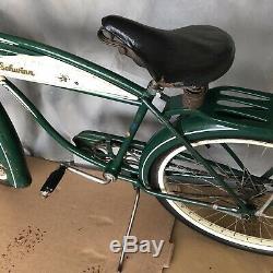 Vintage Old 1950 Schwinn Hornet 26 Tank Bicycle Original Paint Balloon Tire