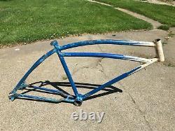 Vintage Original 1939 Prewar Schwinn DX Mens Bicycle Frame Klunker Autocycle 26