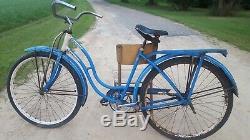 Vintage Original 1954 Chicago Schwinn Spitfire Hornet 26 Womens Cruiser Bicycle
