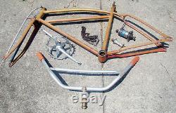 Vintage PRE-WAR 30's SCHWINN EXCELSIOR 26 BICYCLE Straight Bar Frame + Parts