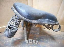 Vintage Persons Bicycle Motorcycle Seat Maybe Whizzer Or Schwinn