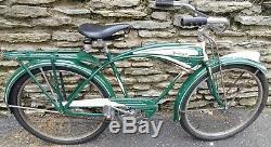Vintage Prewar 1941 Schwinn Autocycle Men's Balloon Tire Tank Bicycle