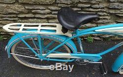 Vintage Prewar 1941 Schwinn Autocycle Mens Balloon Tire Tank Bicycle