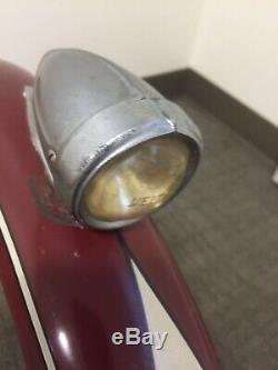 Vintage Prewar Delta Silveray Bicycle Headlight Motorbike Fender Og Paint