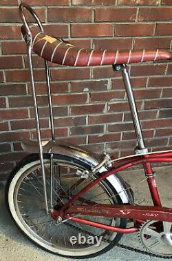 Vintage Red 1968 Schwinn Stingray Deluxe With 3 Spd. (3 Speed). Shifter