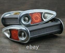 Vintage Repro Teardrop Block PEDALS w Reflector Prewar Tank Bicycle Schwinn Bike