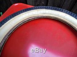 Vintage SCHWINN 16 x 2.125 GRIPPER SLIK TIRE White Wall Sting Ray Krate S2 NOS