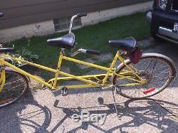 Vintage SCHWINN De Luxe TWINN Pink 5-Speed Tandem Bicycle ORIGINAL 1970's