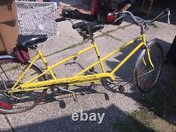 Vintage SCHWINN De Luxe TWINN Yellow 5-Speed Tandem Bicycle ORIGINAL 1970's