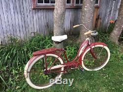 Vintage Schwinn 24-inch Hornet Starlett 1953 Old School Bicycle LI NY or SHIP