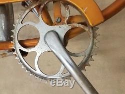 Vintage Schwinn 26 InchBurnt Orange Typhoon Bicycle Frame/ Bicycle Project