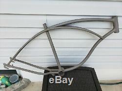 Vintage Schwinn 26 balloon tire cantilever tank bike frame Phantom Streamliner