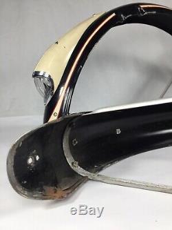 Vintage Schwinn B6 26 Bicycle Fender Set 1950s Working Headlight Nice Reflector