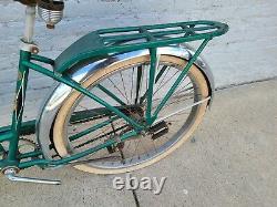 Vintage Schwinn Bicycle Girls Green Phantom Original Balloon Tire Bike Rare
