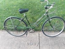 Vintage Schwinn Breeze Bicycle Green Original Bike Women's 3-Speed circa1968-72