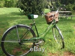 Vintage Schwinn Breeze Bicycle Green S Seat Original Bike Women's