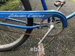 Vintage Schwinn Chicago USA Cruiser Bicycle Blue Adult Size