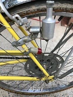 Vintage Schwinn Collegiate Bicycle Bike Yellow