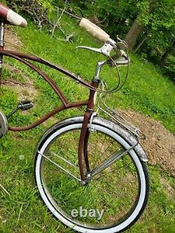 Vintage Schwinn Corvette 3 Speed Mens 1959 Bicycle red sturmey archer tcw 26 s7