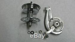 Vintage Schwinn Early front brake hub 36 spoke With brake, partial re chrome