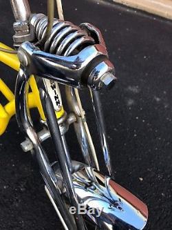 Vintage Schwinn Lemon Peeler Stingray Bicycle 5 speed my bike from the 1970s