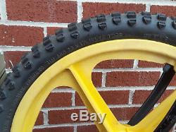 Vintage Schwinn Mag Scrambler 20 BMX Bike Trick Bike Red/Yellow Local P/U Only