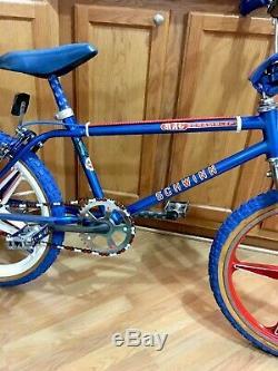 Vintage Schwinn Mag Scrambler Freestyle Bmx Bike 1979 Boy 20 Thrasher Blue Rare