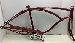 Vintage Schwinn Mark II Jaguar Mens Frame Fork Chainguard Crankset 26 Bike